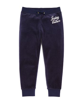 Juicy Couture Black Label - Girls' Velour Rhinestone Zuma Pants - Big Kid