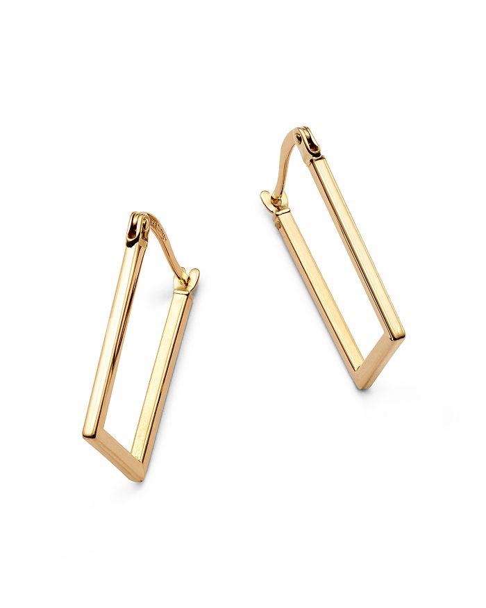 Rectangular Hoop Earrings In 14k Yellow Gold 100 Exclusive