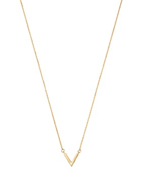 """Moon & Meadow - V Pendant Necklace in 14K Yellow Gold, 16"""" - 100% Exclusive"""