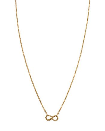 """Moon & Meadow - Infinity Pendant Necklace in 14K Yellow Gold, 16"""" - 100% Exclusive"""