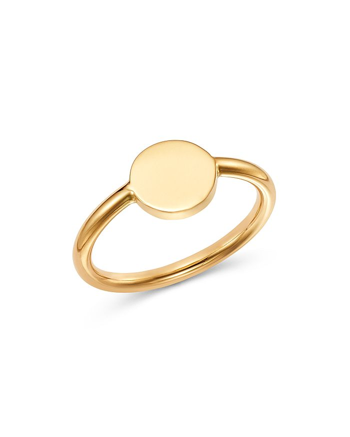 Moon & Meadow - Round Signet Ring in 14K Yellow Gold - 100% Exclusive