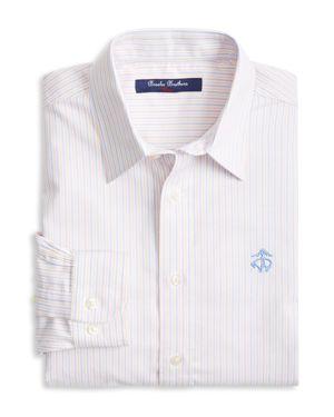 Brooks Brothers Boys' Non-Iron Striped Oxford Sport Shirt - Little Kid, Big Kid 2873435
