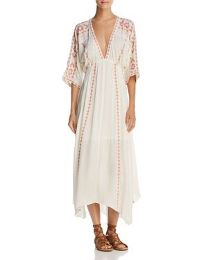 EN CREME EMBROIDERED MIDI DRESS - 100% EXCLUSIVE