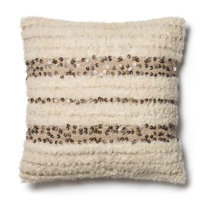 $Loloi Ivory Decorative Pillow, 22