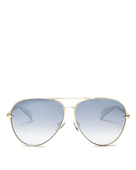 rag & bone - Women's 1006 Mirrored Aviator Sunglasses, 63mm