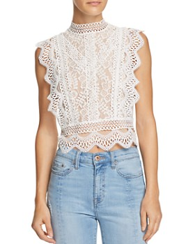 Lucy Paris - Abigail Lace Cropped Top - 100% Exclusive