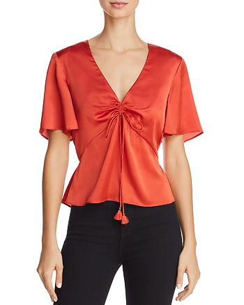 Finders Keepers - Mercury Tie-Front Top