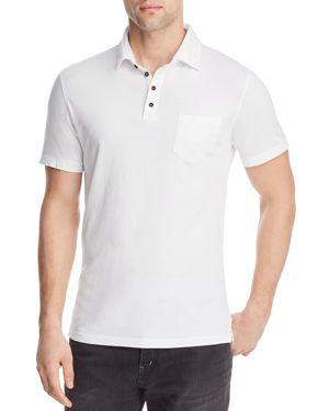 M SINGER Magic Wash Pocket Polo Shirt in White