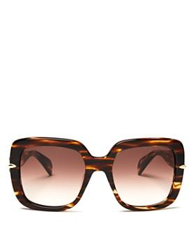 rag & bone - Women's 1004 Gradient Square Sunglasses, 56mm