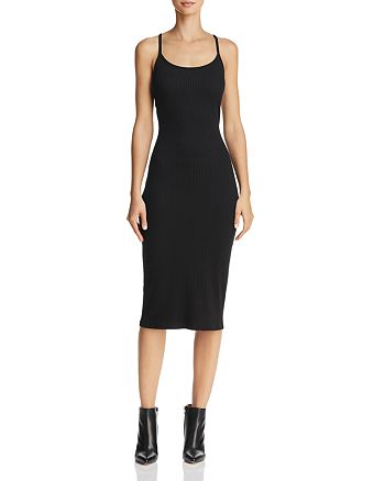5c62d0704e57 FRENCH CONNECTION Tommy Ribbed Racerback Midi Dress - 100% Exclusive ...