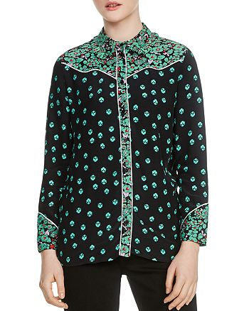 Maje - Cimani Floral-Print Shirt