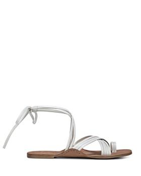Via Spiga - Women's Allegra Leather Ankle Tie Sandals