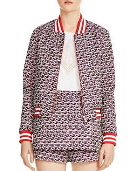 Maje - Boyana Floral Print Bomber Jacket