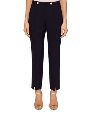 Ted Working Title Front Slit Skinny Trousers, Navy