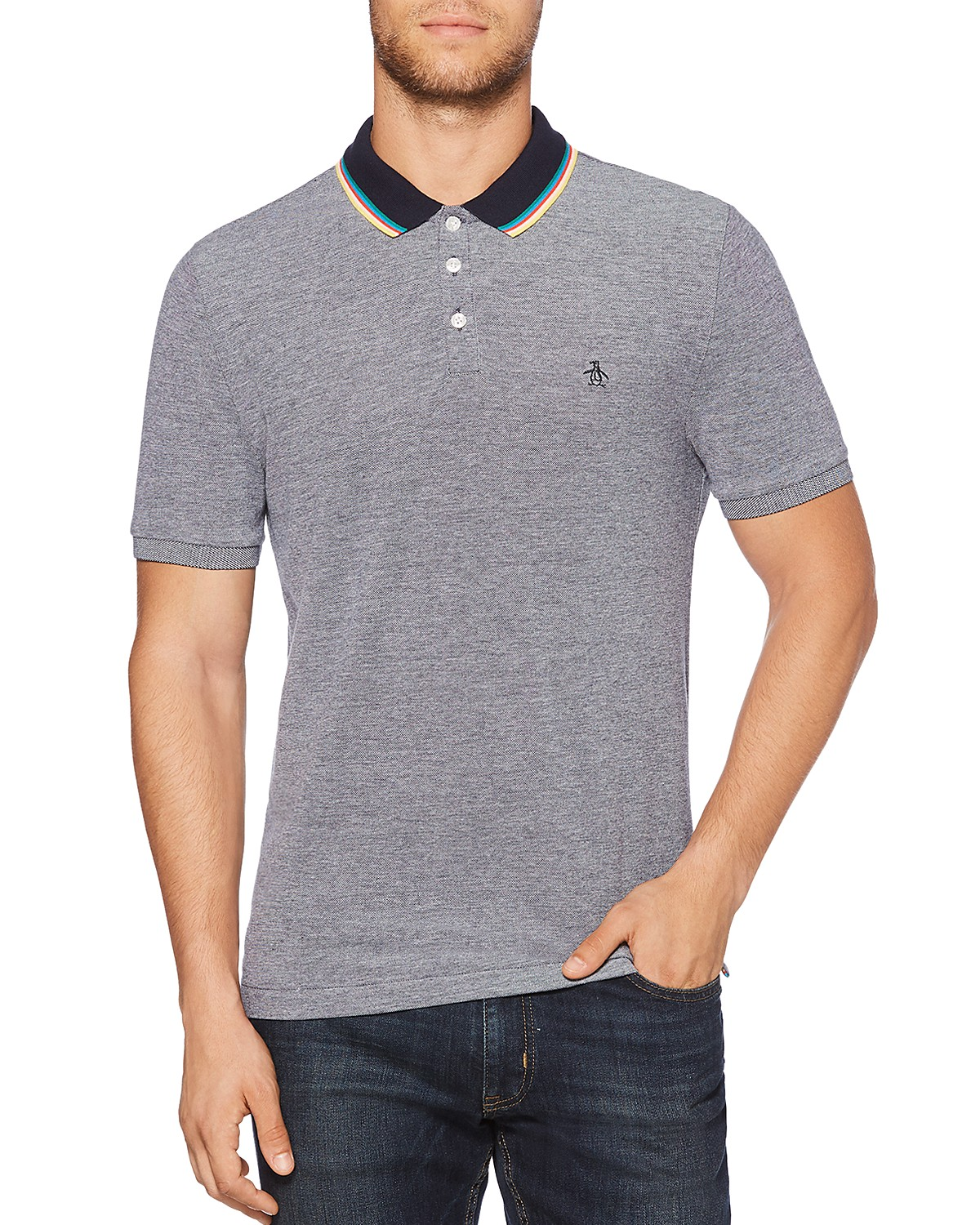 Mens S/S Tipped Birdseye Polo Shirt Original Penguin Clearance Discount Discount For Sale Clearance Shop Offer xW3BNJg