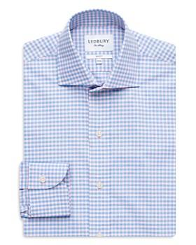 Ledbury - Micro Ginghim Slim Fit Dress Shirt