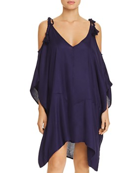 Echo - Cold-Shoulder Dress Swim Cover-Up