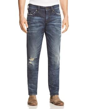 True Religion - Geno Straight Fit Jeans in Worn Combat Blue