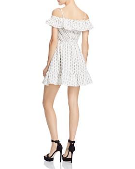 Lost and Wander - Hollywood Ruffled Cold-Shoulder Mini Dress