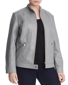 Bagatelle Plus - Faux Leather Moto Jacket