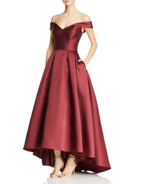AVERY G OFF-THE-SHOULDER BALL GOWN