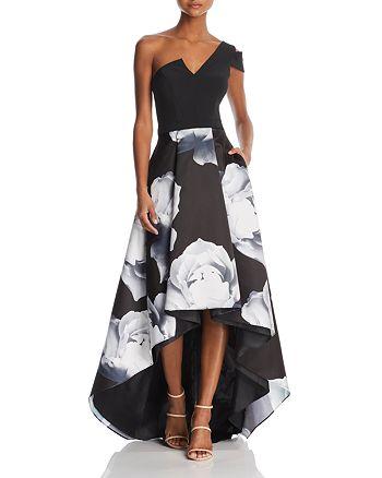 AQUA - One-Shoulder Floral Ball Gown - 100% Exclusive