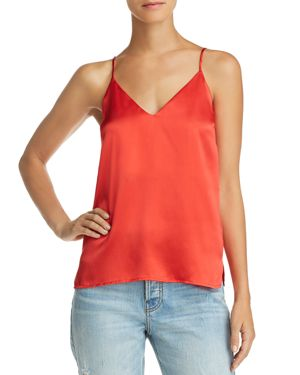 Gwyneth Silk Camisole Top, Red