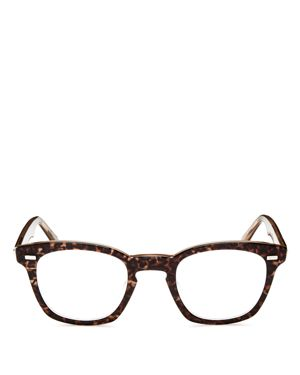 Annie Leopard Print Square Keyhole Readers, 46Mm in Brown