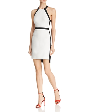 Bcbgmaxazria Cutout Color-Block Dress