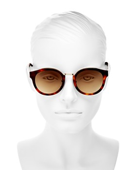 Longchamp - Women's Heritage Family Round Sunglasses, 51mm