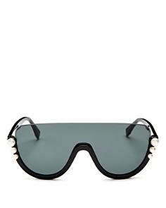 Fendi - Women's Embellished Shield Sunglasses, 132mm