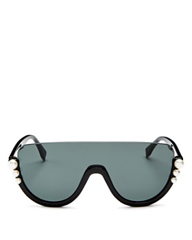 Fendi - Women's Embellished Shield Sunglasses, 132mm