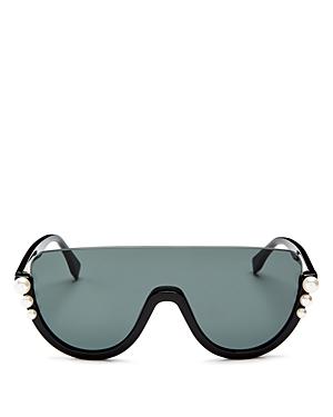 Fendi Women's Embellished Shield Sunglasses, 132mm