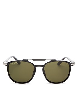 Salvatore Ferragamo - Men's Brow Bar Square Sunglasses, 54mm