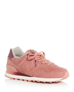 New Balance Women's 574 Suede Lace Up Sneakers