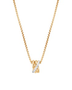 "John Hardy 18K Yellow Gold Bamboo Pavé Diamond Pendant Necklace, 16"" - Bloomingdale's_0"