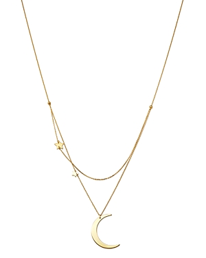 Moon & Meadow Crescent & Star Charm Layered Necklace in 14K Yellow Gold, 18 - 100% Exclusive