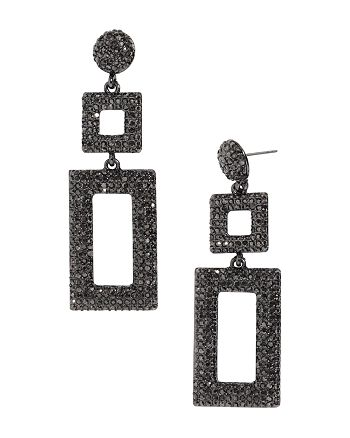 BAUBLEBAR - Davalyn Pavé-Encrusted Square & Rectangle Drop Earrings