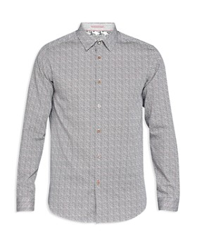 Ted Baker - Lorrie Rounded Geo Print Regular Fit Button-Down Shirt