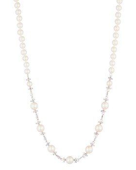 Carolee - Simulated Pearl & Pavé Necklace, 16""
