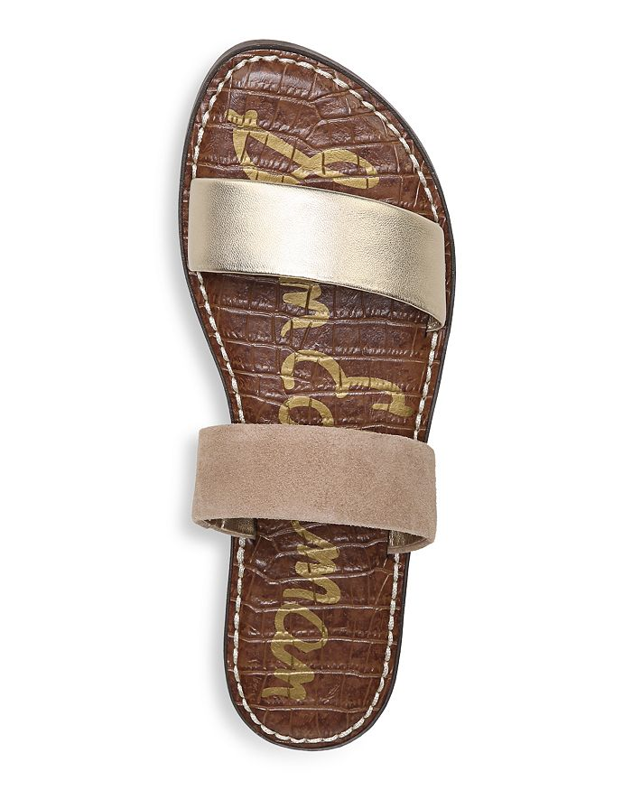 ca92d42f83d Sam Edelman - Women s Gala Leather   Suede Slide Sandals