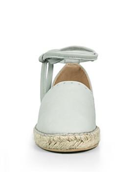 ALLSAINTS - Women's Leather Ankle Tie Espadrille Flats