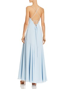 Fame and Partners - Callais Ruffle-Trimmed Gown