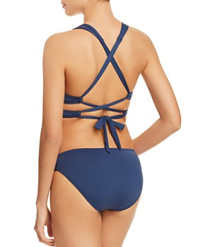 BECCA® by Rebecca Virtue - Color Code Wrap Bikini Top & Color Code Shirred Tab Bikini Bottom