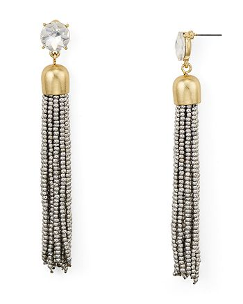 AQUA - Metallic-Finish Tassel Drop Earrings - 100% Exclusive