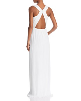 BCBGMAXAZRIA - Pleated Column Gown - 100% Exclusive