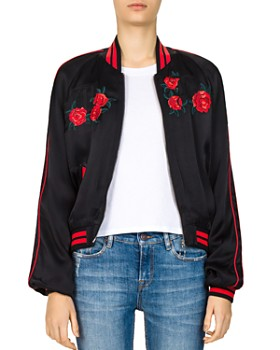 The Kooples - Embroidered Bomber Jacket