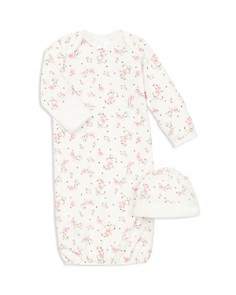 Little Me - Girls' Rose Gown & Hat Set - Baby