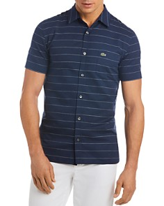 Lacoste Striped Regular Fit Button-Down Shirt - Bloomingdale's_0