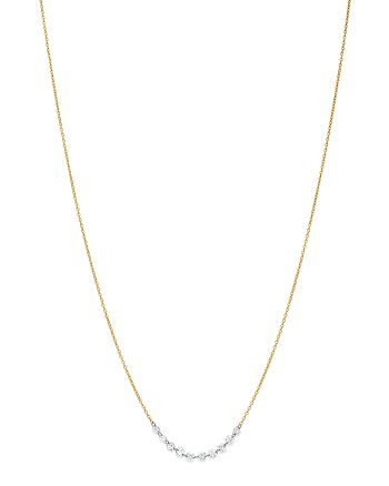 AeroDiamonds - 18K Yellow Gold Hugs Ten Diamond Necklace, 18""